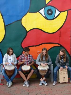 Trommlerinnen in Brückentin