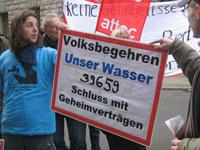 Übergabe der Unterschriften für das Volksbegehren 2008
