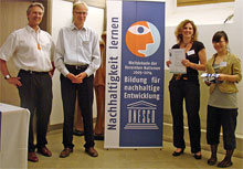 Auszeichnung als UN-Dekade-Projekt 2008/2009