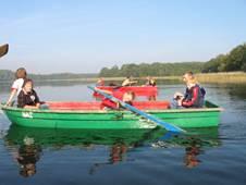 Ruderboot auf See