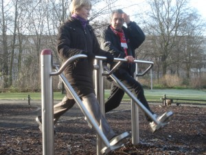 Fitnessgerät im Preußenpark, © C. Pfeiffer