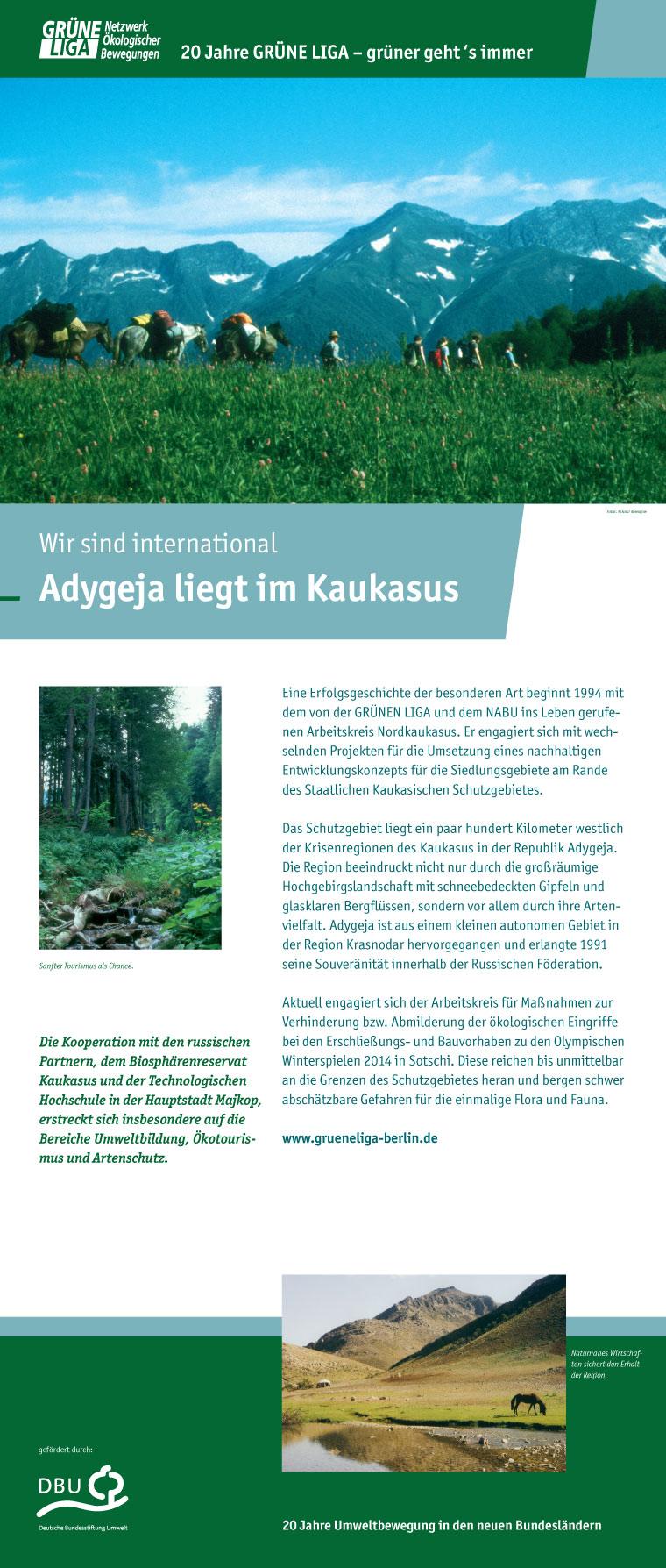 Wir sind international - Adygeja liegt im Kaukasus
