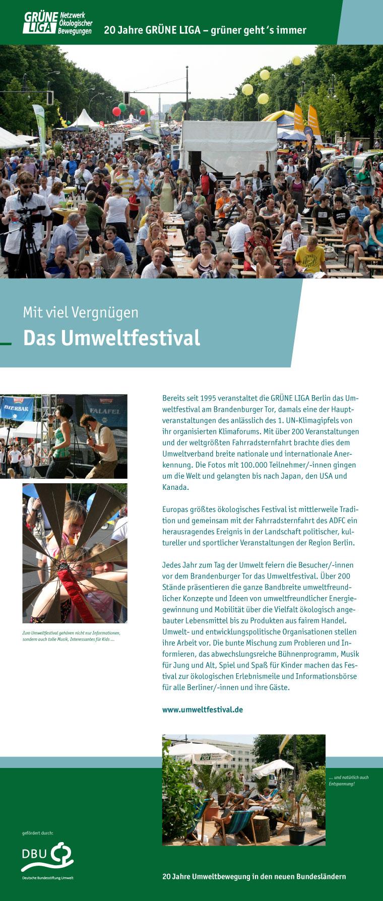 Mit viel Vergnügen - Das Umweltfestival