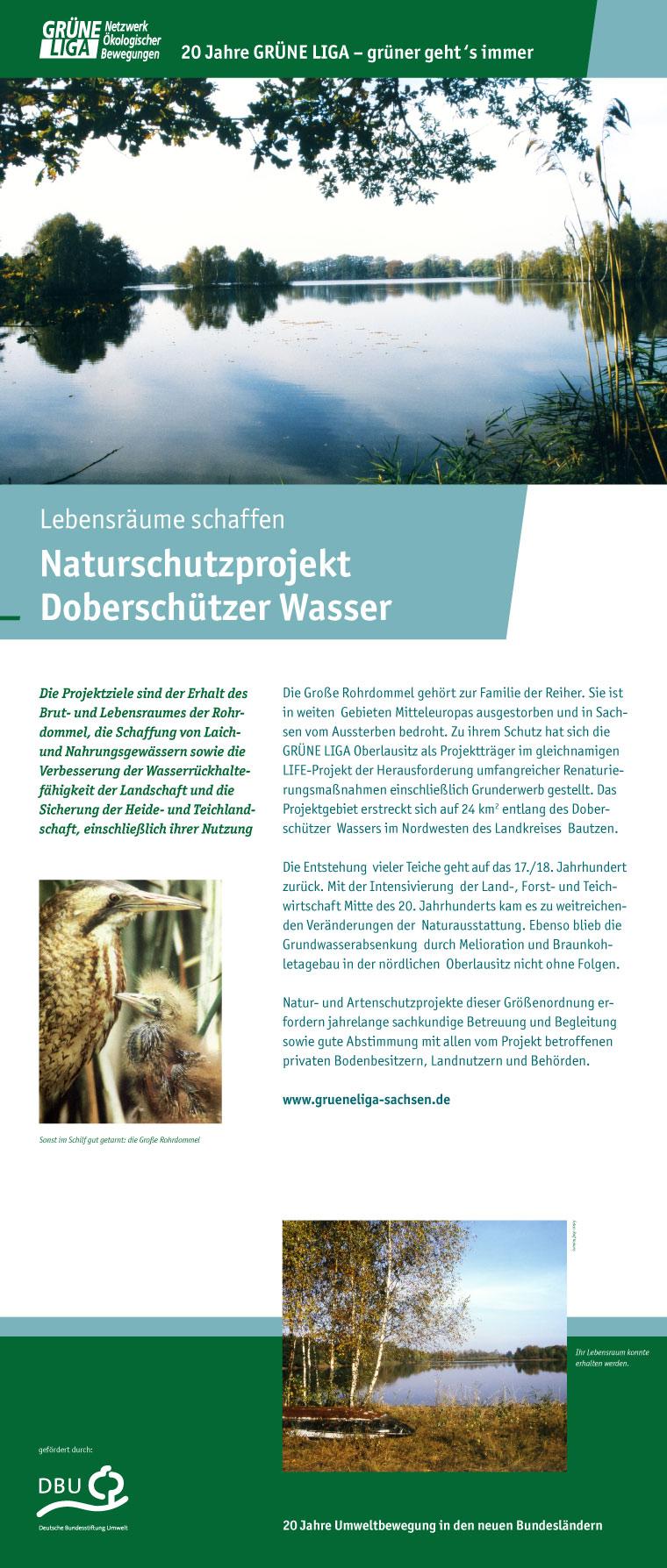 Lebensräume schaffen - Naturschutzprojekt Doberschützer Wasser