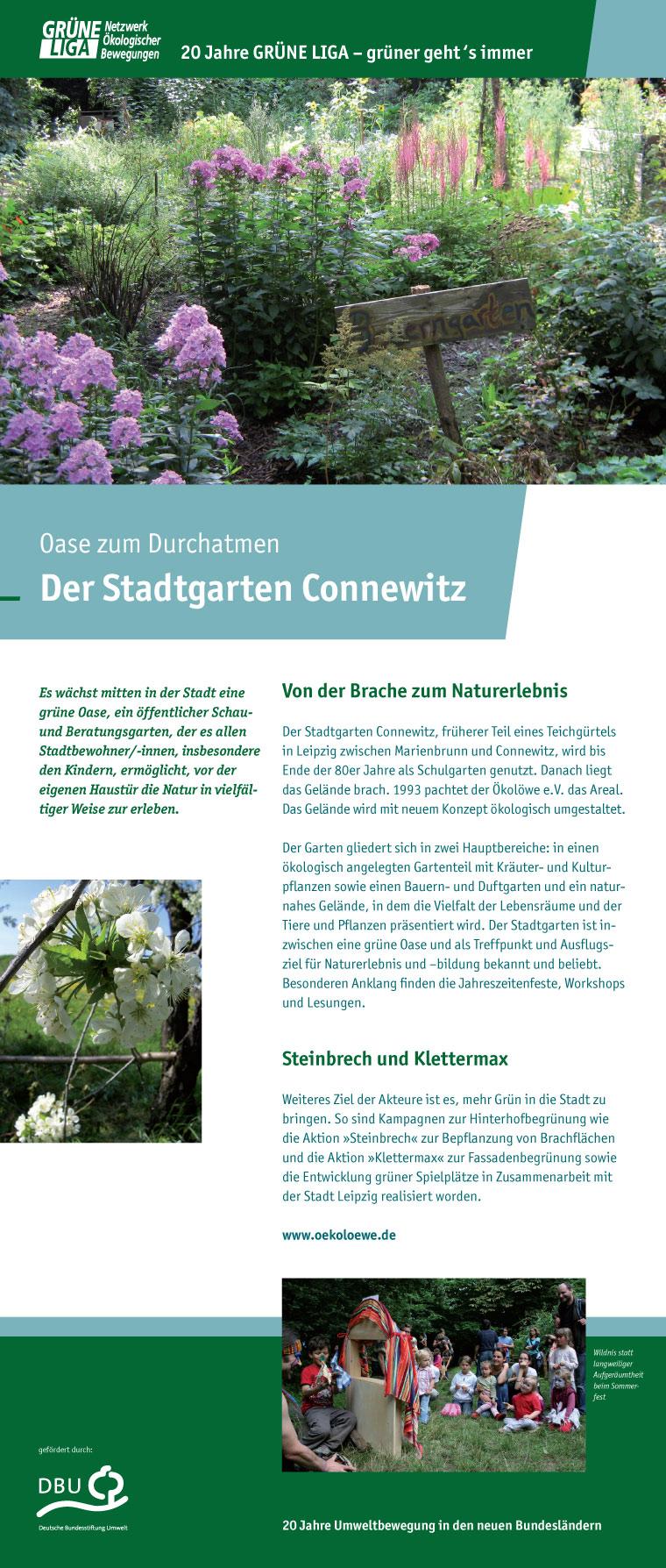 Oase zum Durchatmen - Der Stadtgarten Connewitz