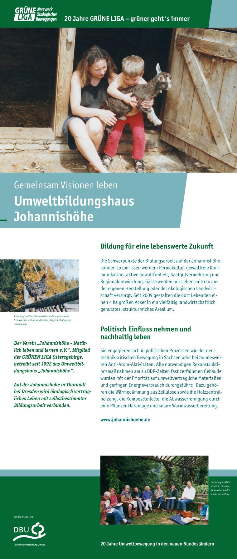 Gemeinsam Visionen erleben - Umweltbildungshaus Johannishoehe
