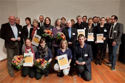Gruppenbild: Preisträger des Zeitzeiche(N)-Wettbewerb 2011