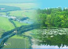 Flusslandschaft und See