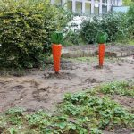 Bildung für nachhaltige Entwicklung in Schulgärten und auf grünen Schulhöfen – aus Holz entsteht Gemüse © GRÜNE LIGA Berlin