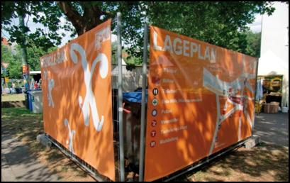 Getrennte Abfallsammlung für Standbetreiber/ -innen auf dem Karneval der Kulturen