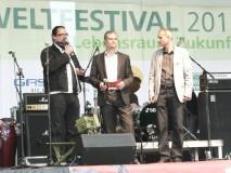 Talkenden auf dem Umweltfestival