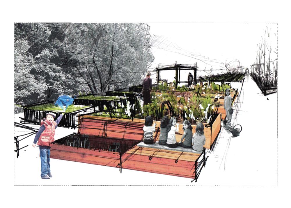 Grafik: Atelier Le Balto - Schulgarten