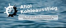 Banner Aktion AHOI Kohleausstieg
