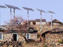 Solarzellenanlage in Lesotho
