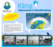Klimatafel der Ausstellung Global Classroom