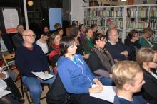Mitglieder auf der Landesmitgliederversammlung 2016 der GRUENEN LIGA Berlin